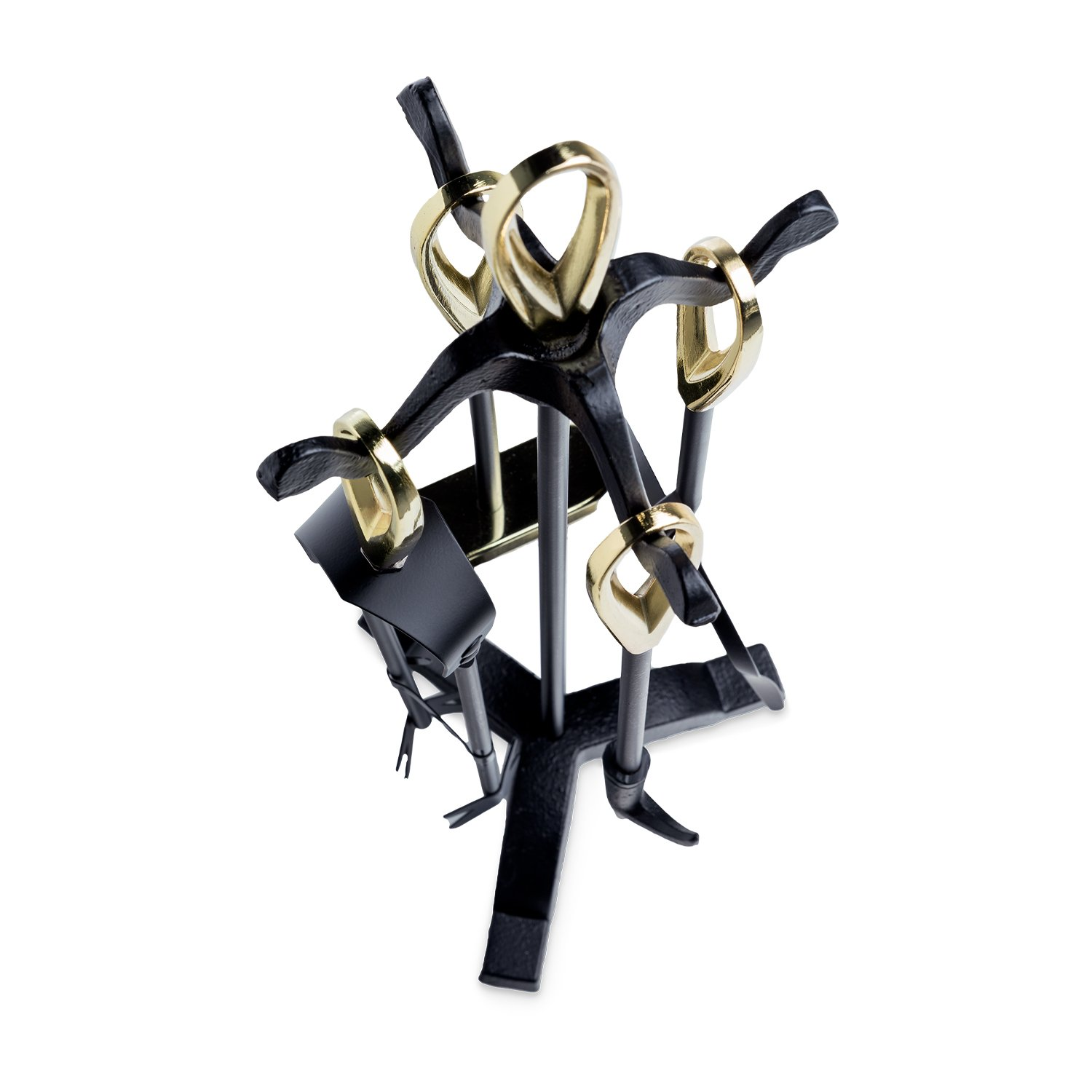 Silverflame Brass & Black Companion Set 5Pc