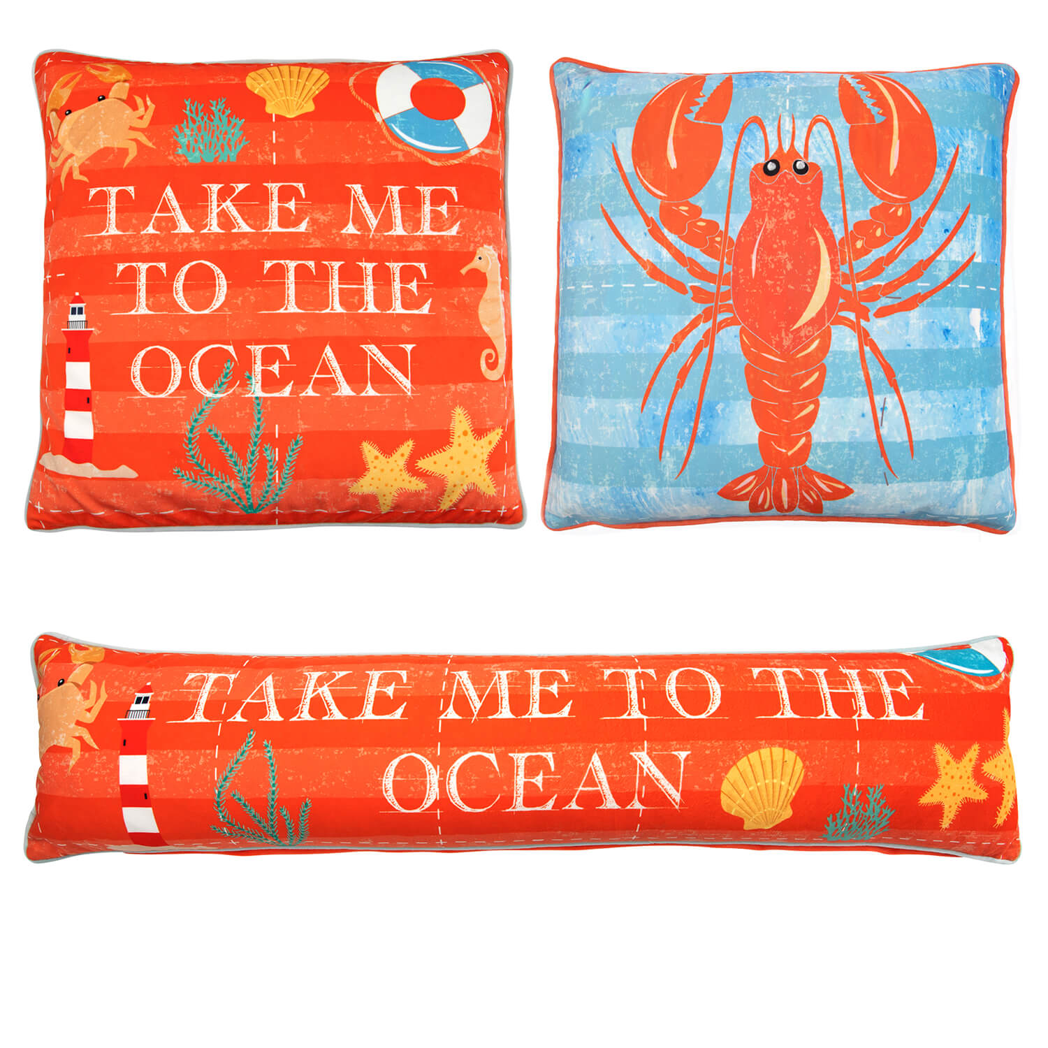 Take Me To The Ocean Cushion Cover 2 Pack 45x45cm
