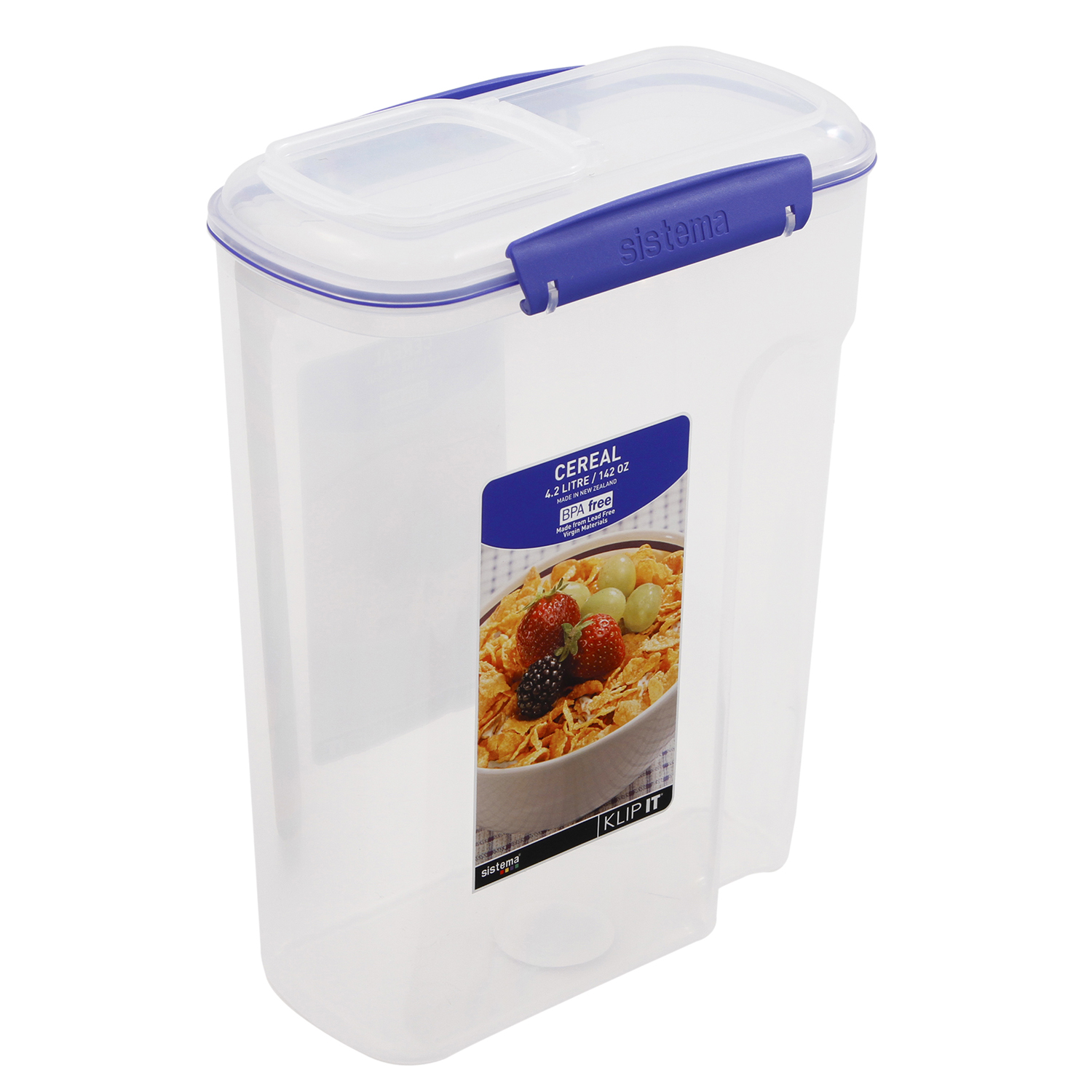 Klip it airtight cereal dispenser large home store more images klip it airtight cereal dispenser large ccuart Image collections