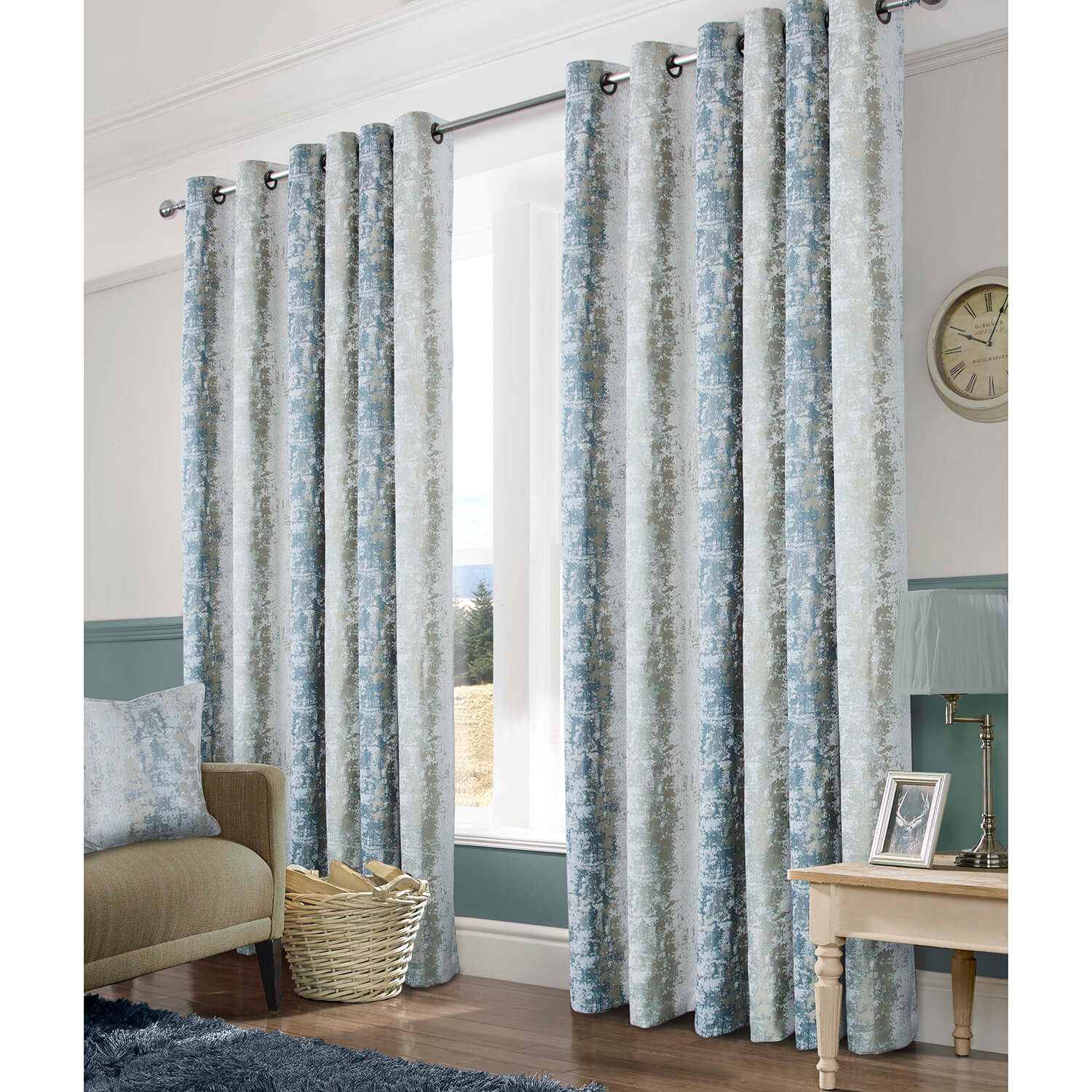 OMBRE CHENILLE SAGE 66x54 Curtains