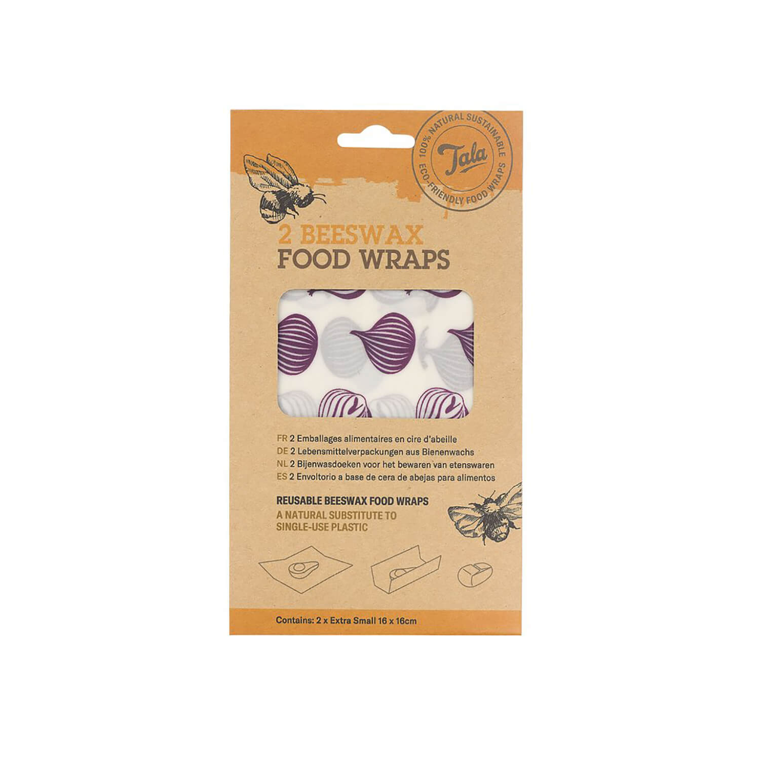 Tala 2 Onion Food Wax Wraps - 16 x 16cm