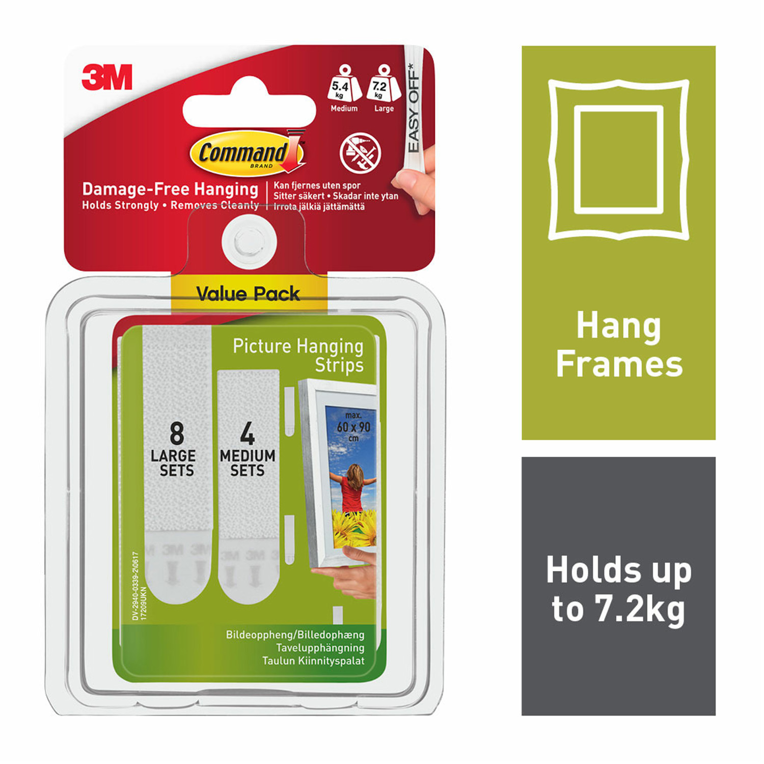 Command 12pk Medium Large Picture Hanging Strips Home Store More