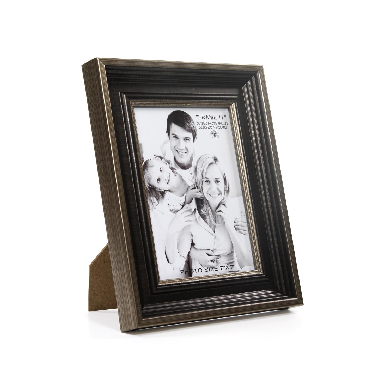 antique bronze slim photo frame 5 x 7 home store more. Black Bedroom Furniture Sets. Home Design Ideas