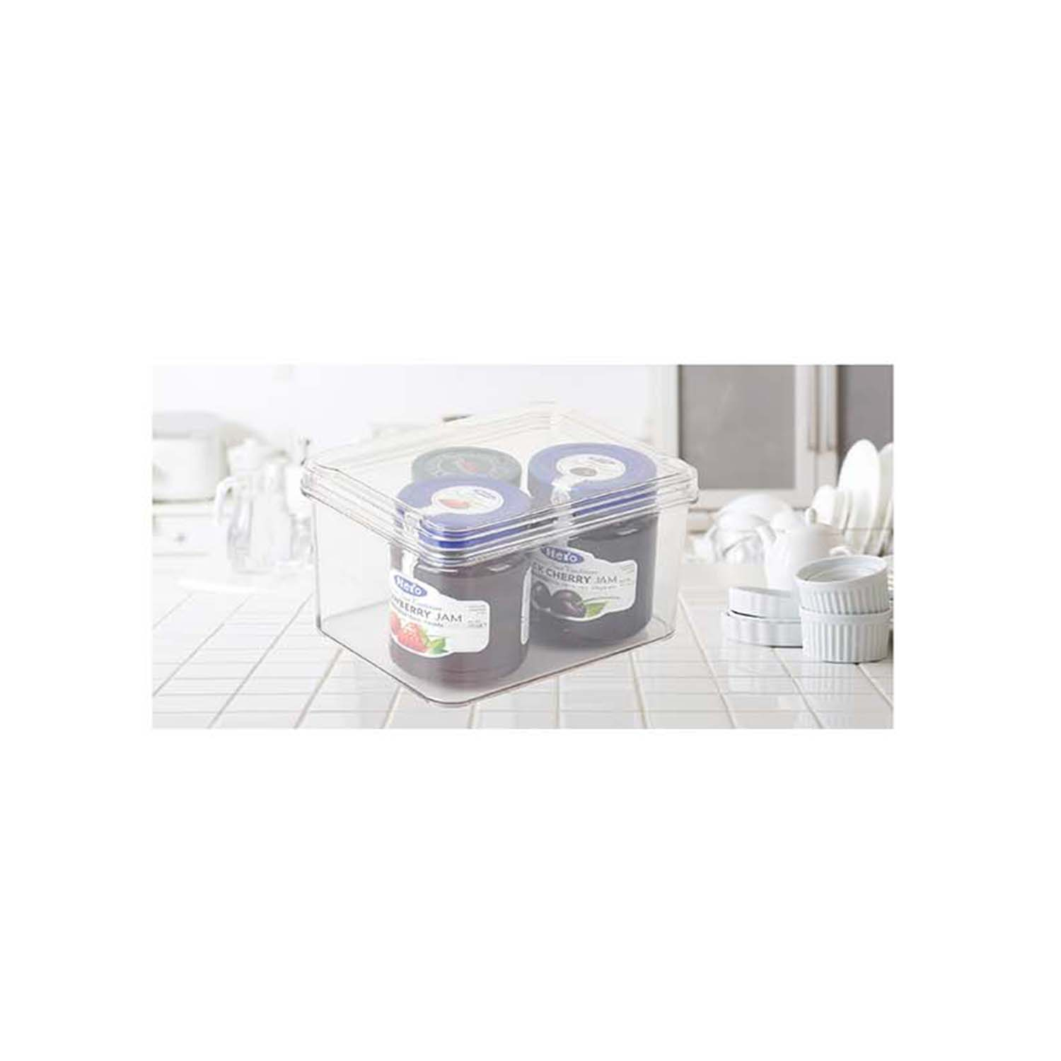 Fridge & freezer Bin With Lid 17.6X13.8X10.9cm