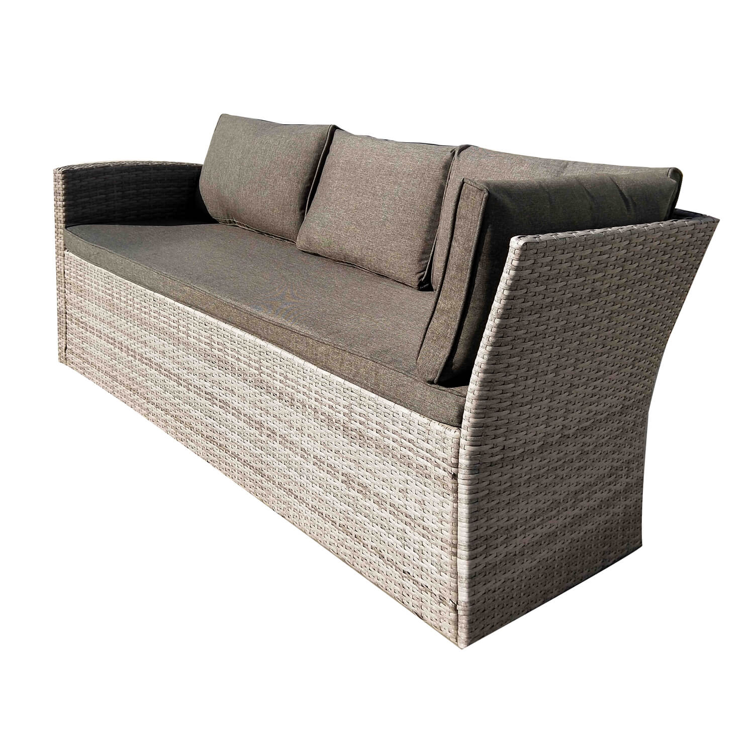 Rattan Corner Sofa Garden Set: Rattan Garden Corner Sofa And Dining Set