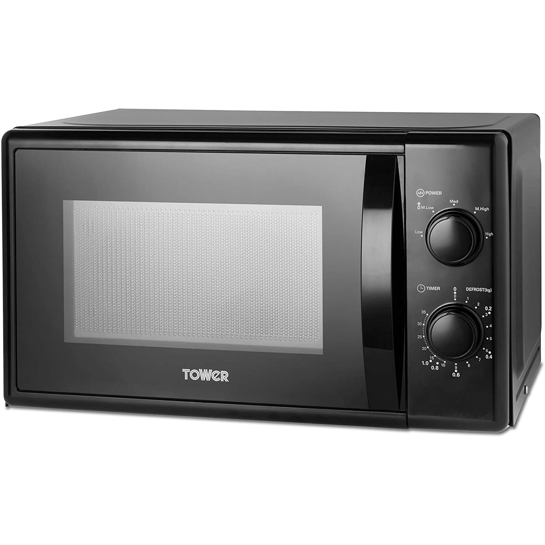 Tower Black 20L 700W Microwave