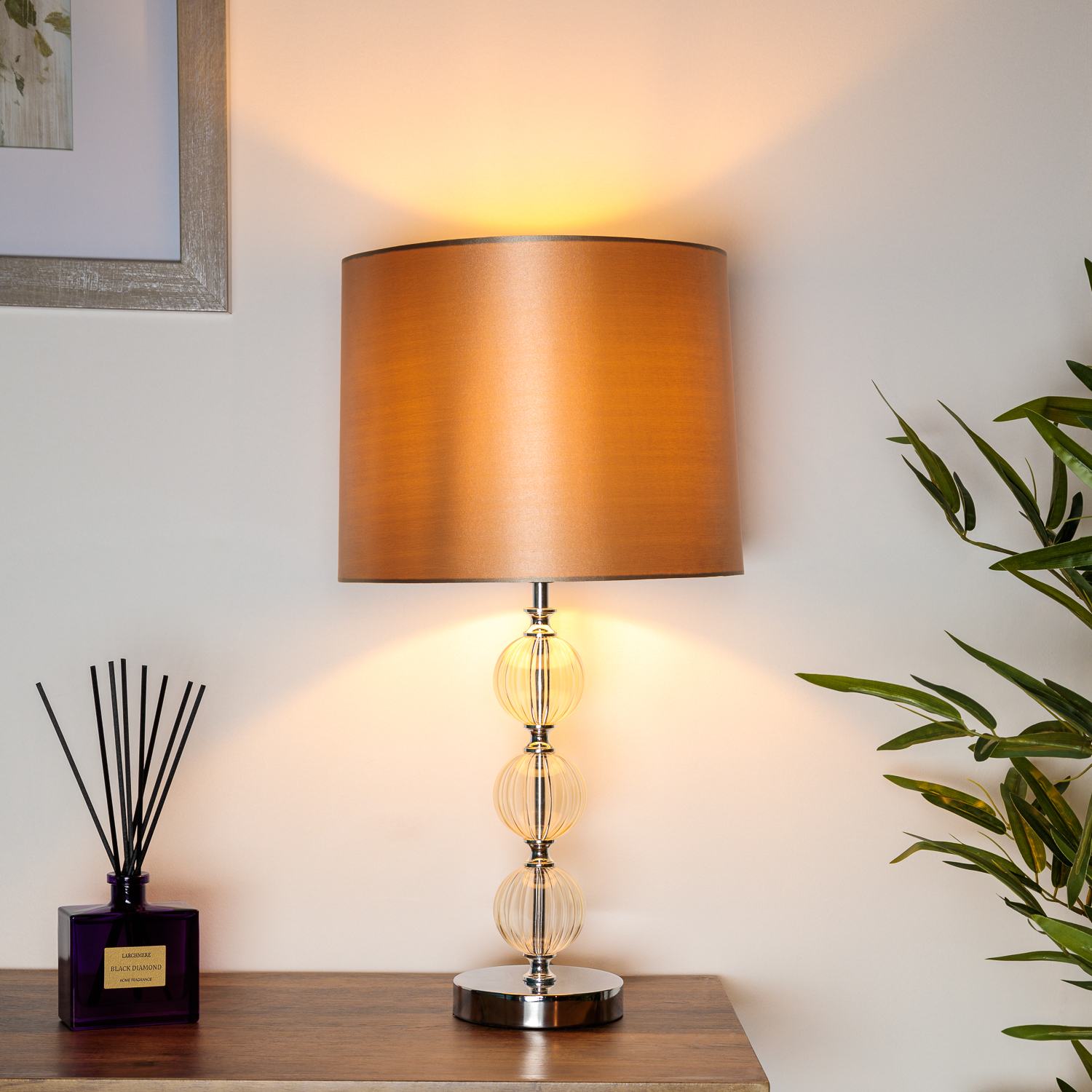 Traditional 3 Glass Ball Table Lamp Home Store More