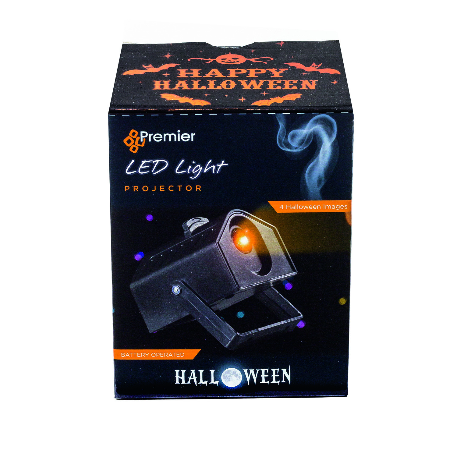 halloween orange led projector - home store + more