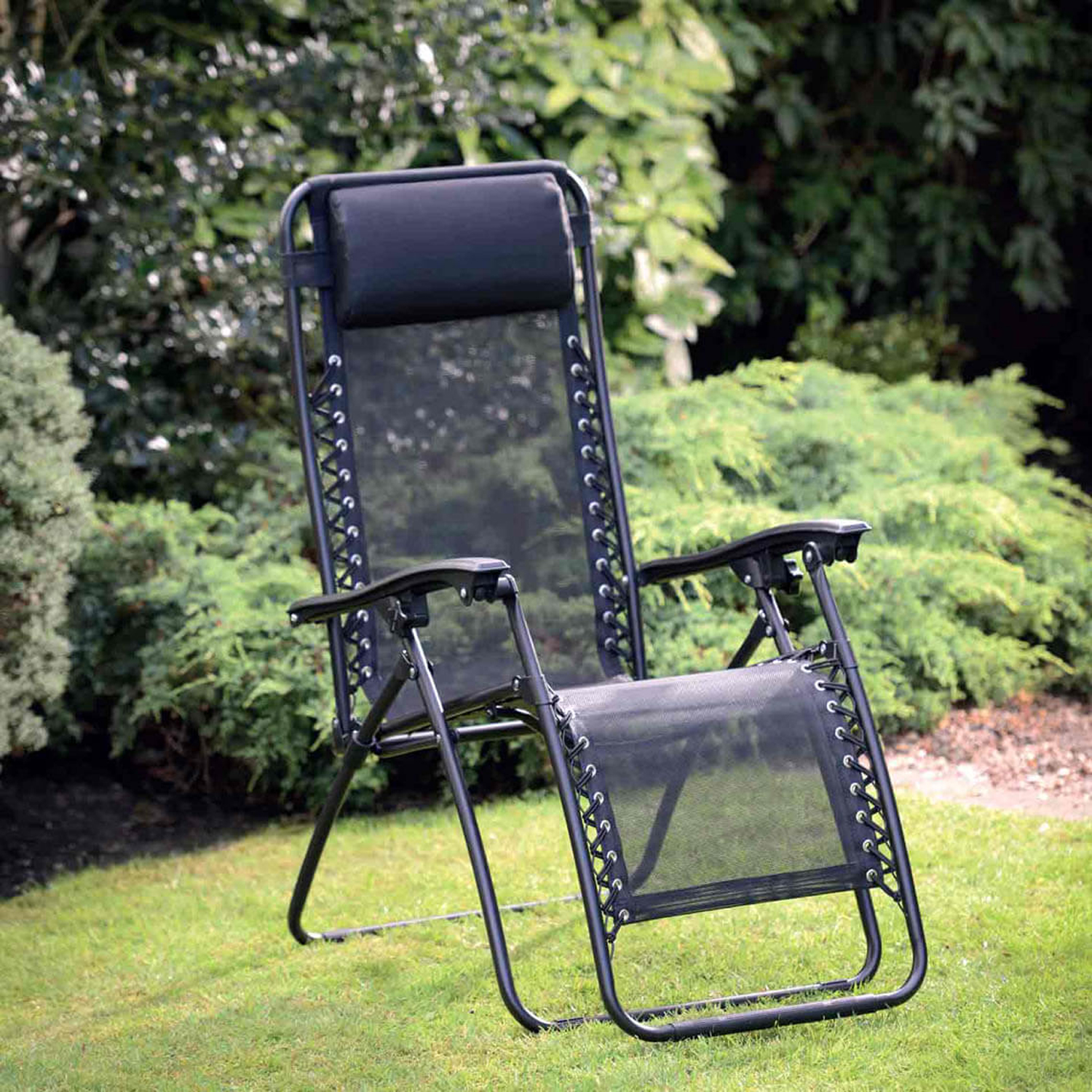 Chairs And More: Zero Gravity Black Relaxing Garden Chair