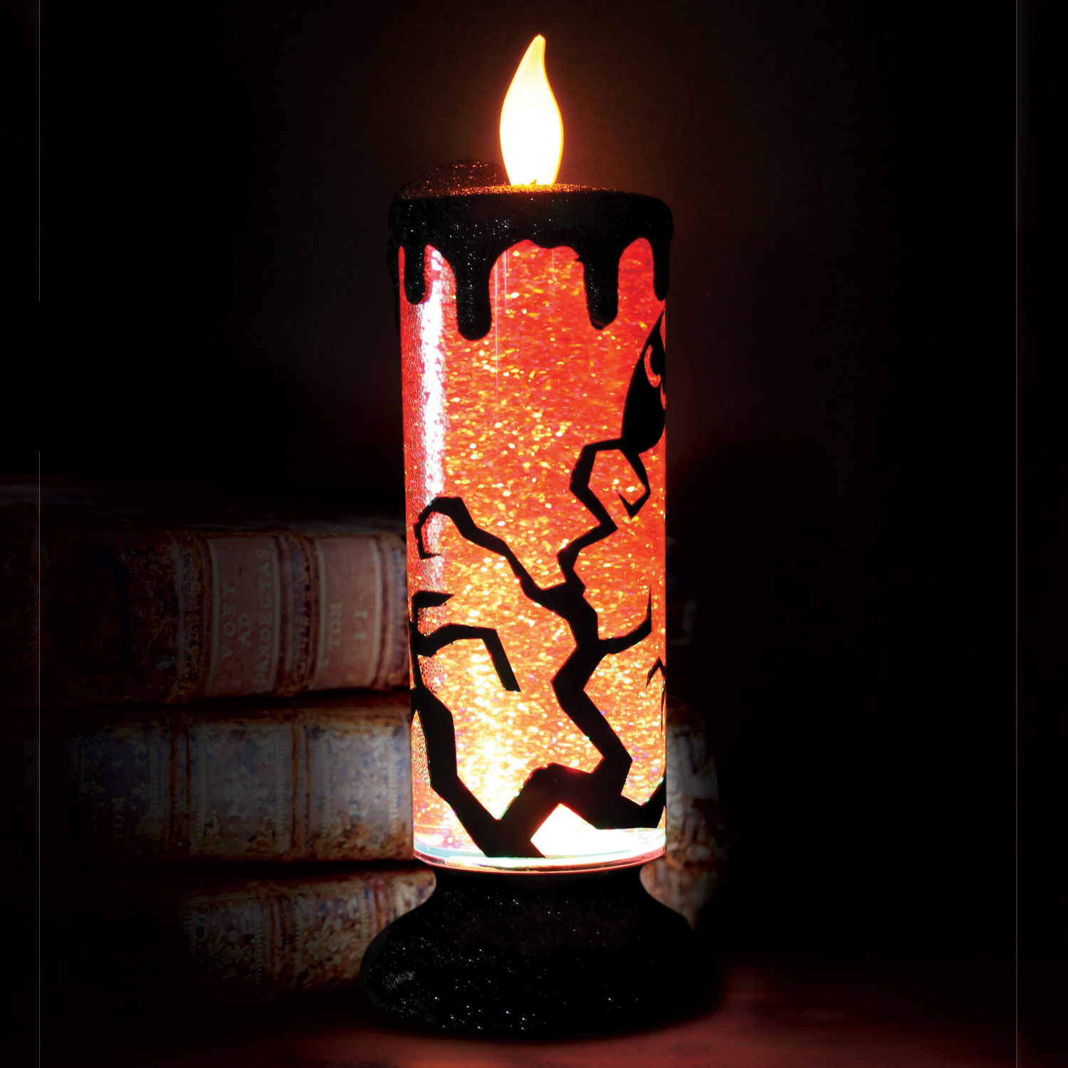 Images Halloween Swirling Glitter Candle