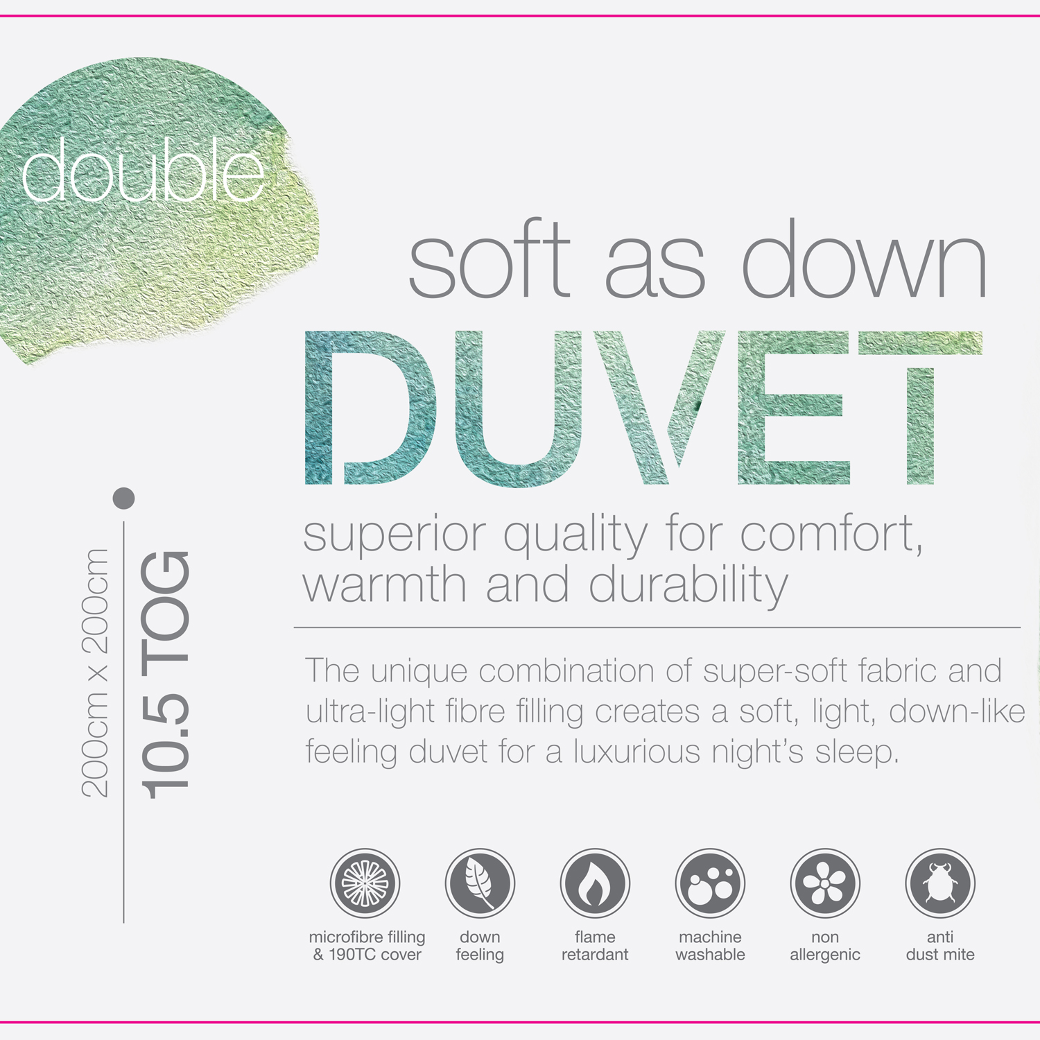 Soft As Down Duvet Double