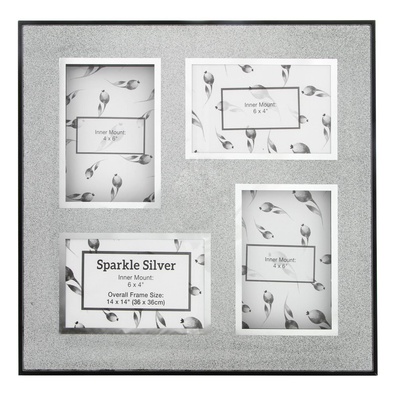 Multi Sparkle Silver Photo Frame 36x36cm - Home Store + More
