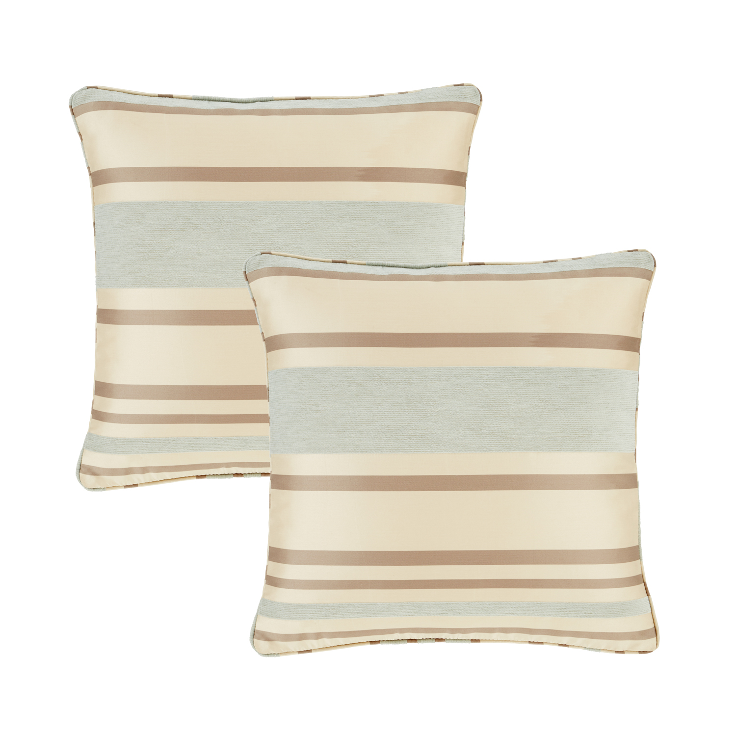 Chenille Stripe Duck Egg Cushion Covers 2Pk