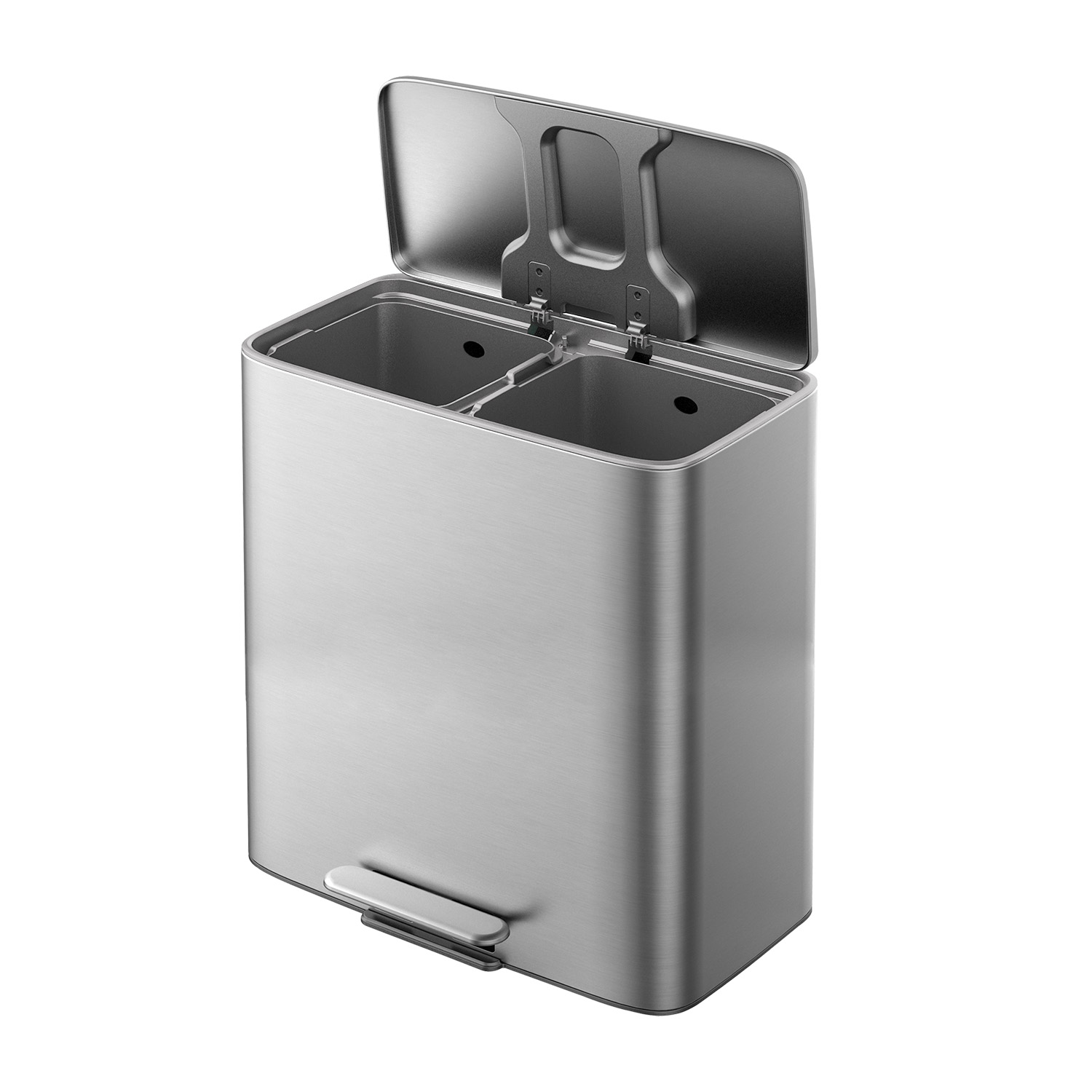 Forma 2 Compartment Bin 60L - Stainless Steel