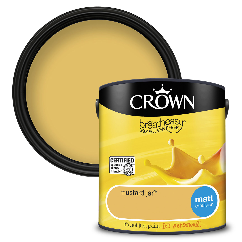 Crown Breatheasy Matt 2.5L - Mustard Jar