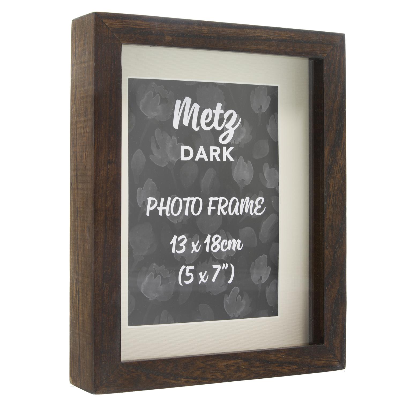 metz dark frame 5 x 7 home store more. Black Bedroom Furniture Sets. Home Design Ideas