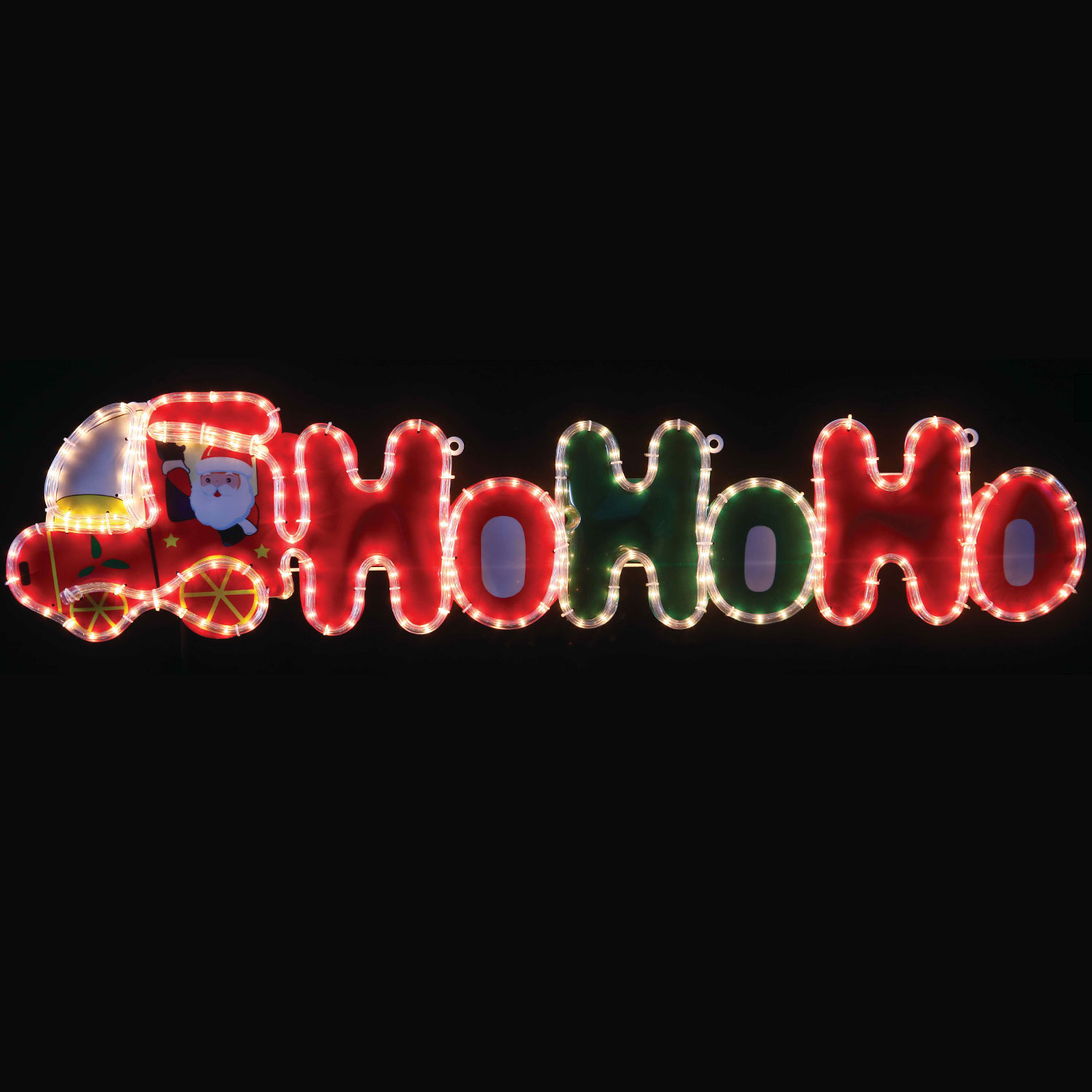 Ho Ho Ho Santa Train Rope Light