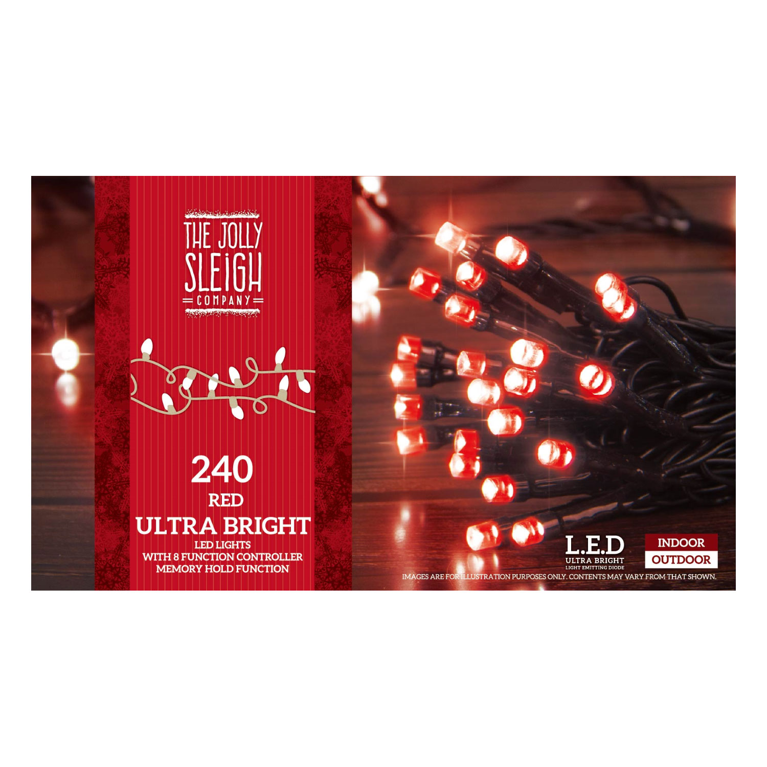 240 LED String Lights Red