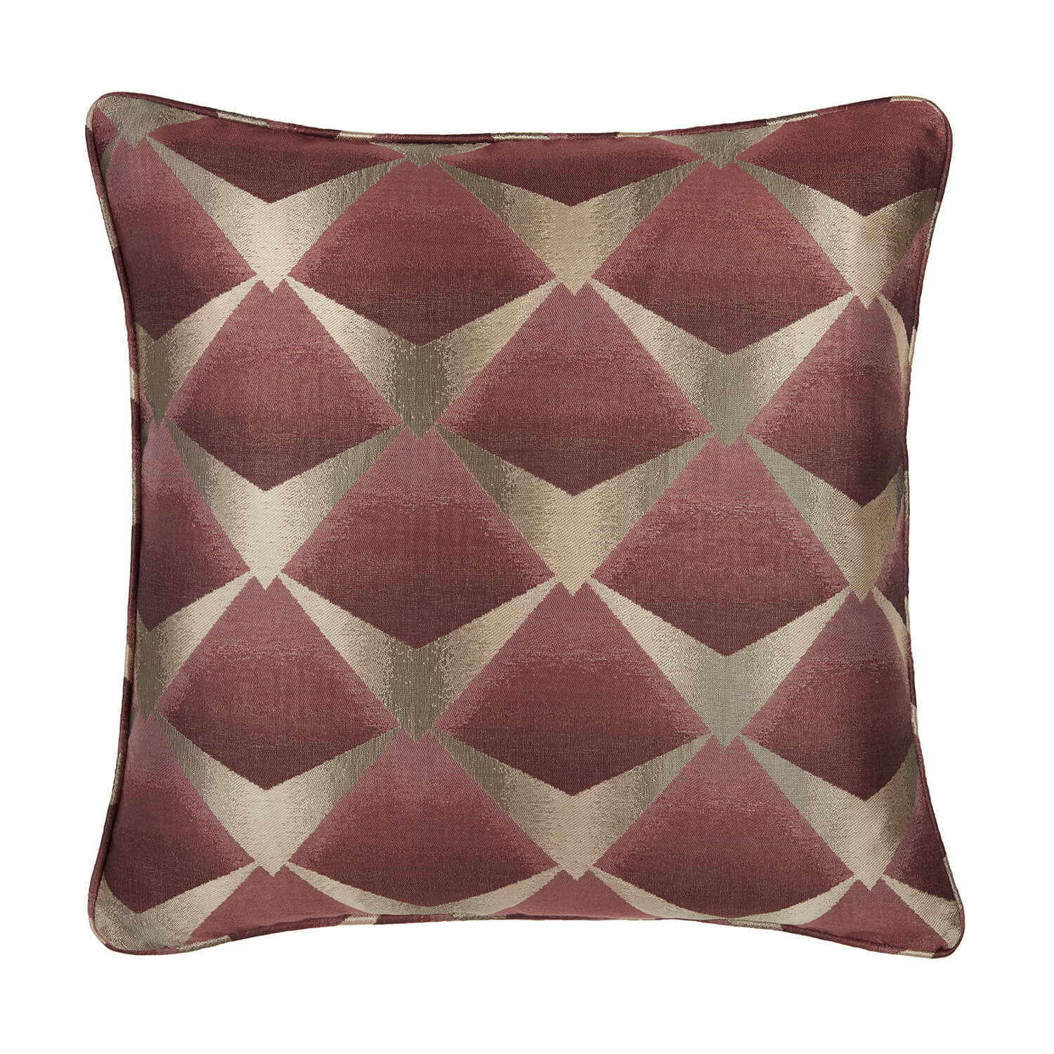 Deco Fan Cushion 58 x 58cm - Wine