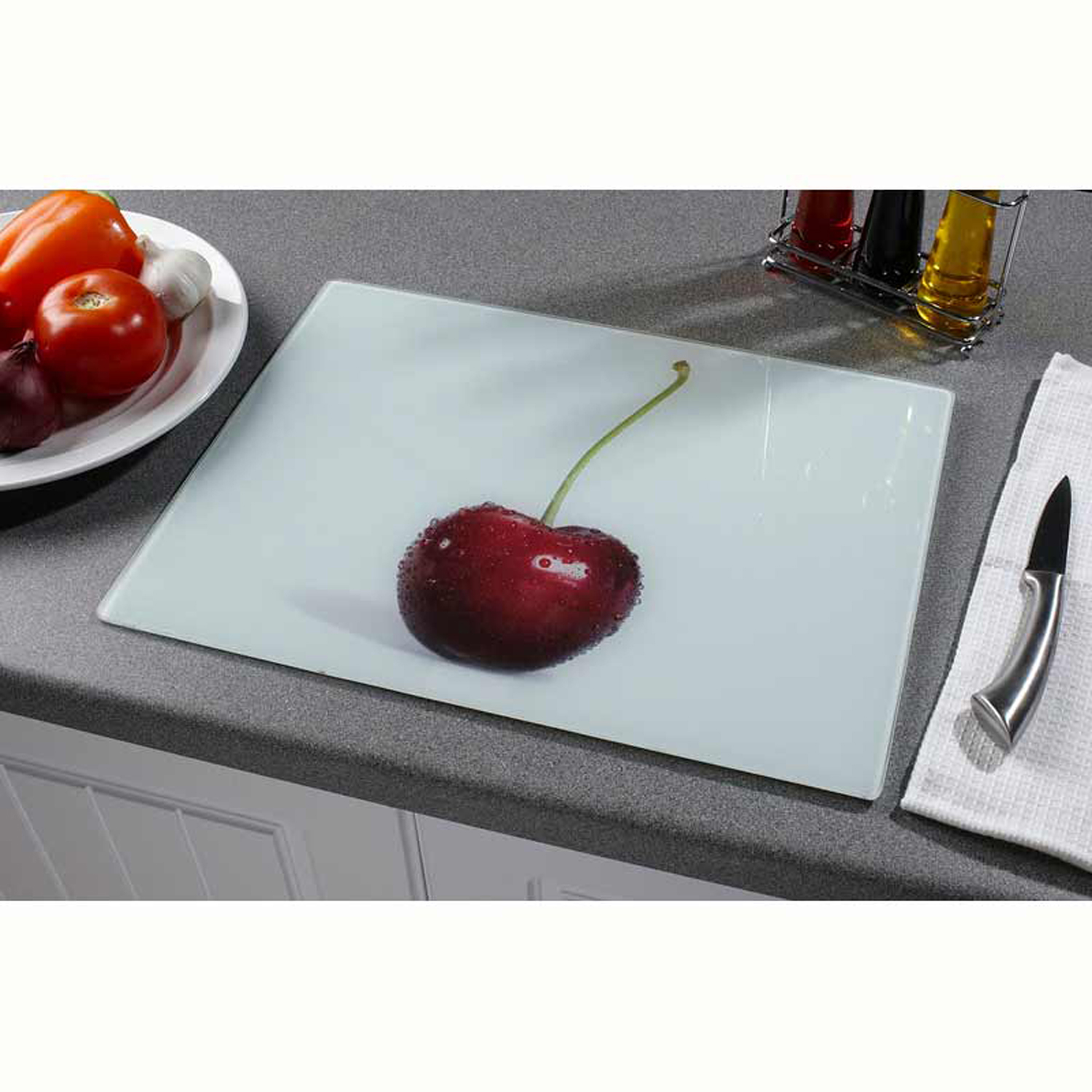 glass worktop saver cherry home store more. Black Bedroom Furniture Sets. Home Design Ideas