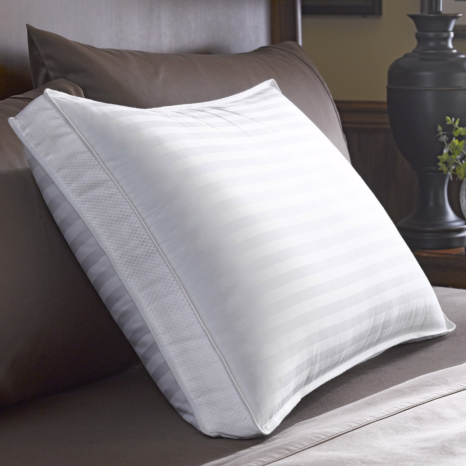 Bonne Nuit Cotton Stripe Pillow