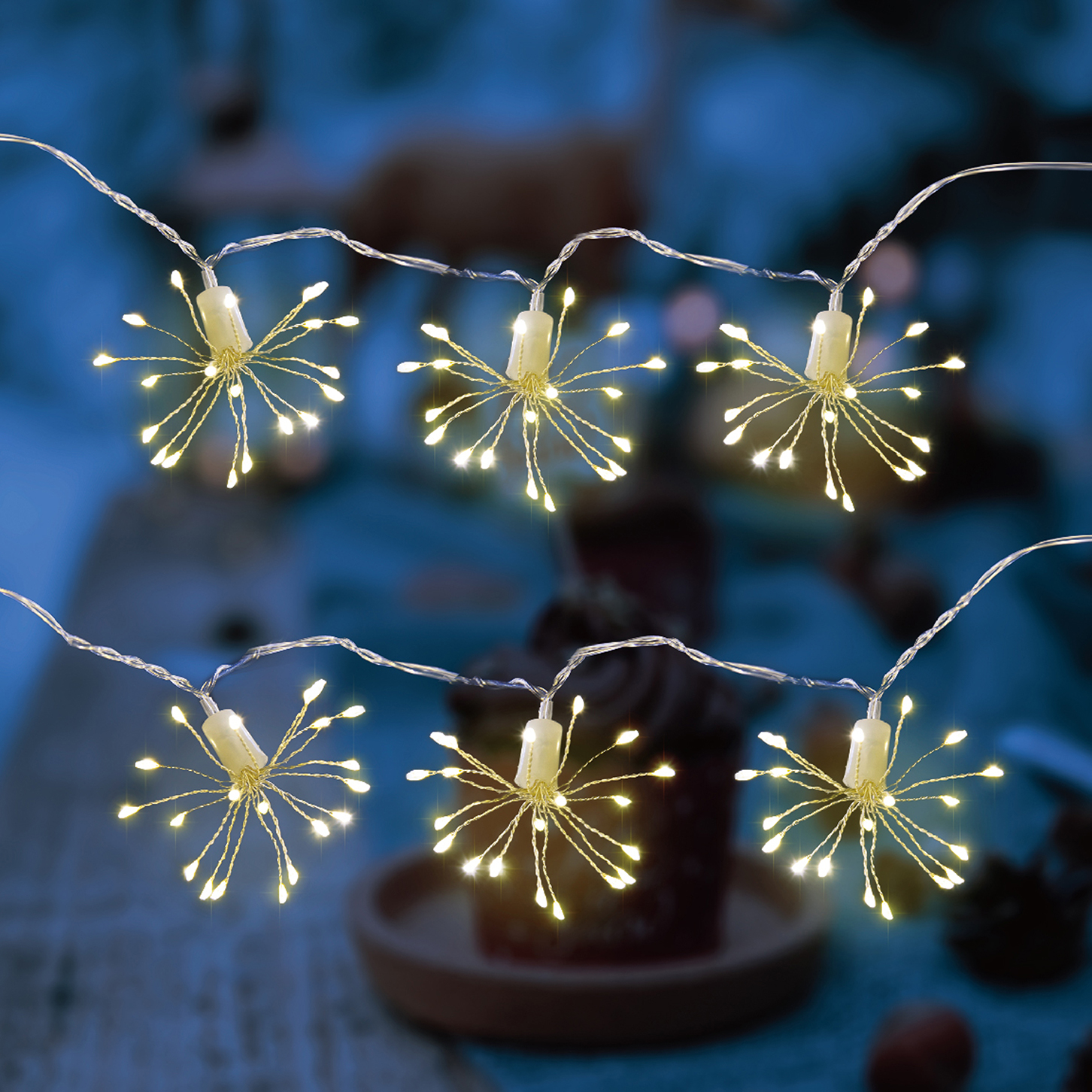 10 Piece Copper Wire Ball String Light