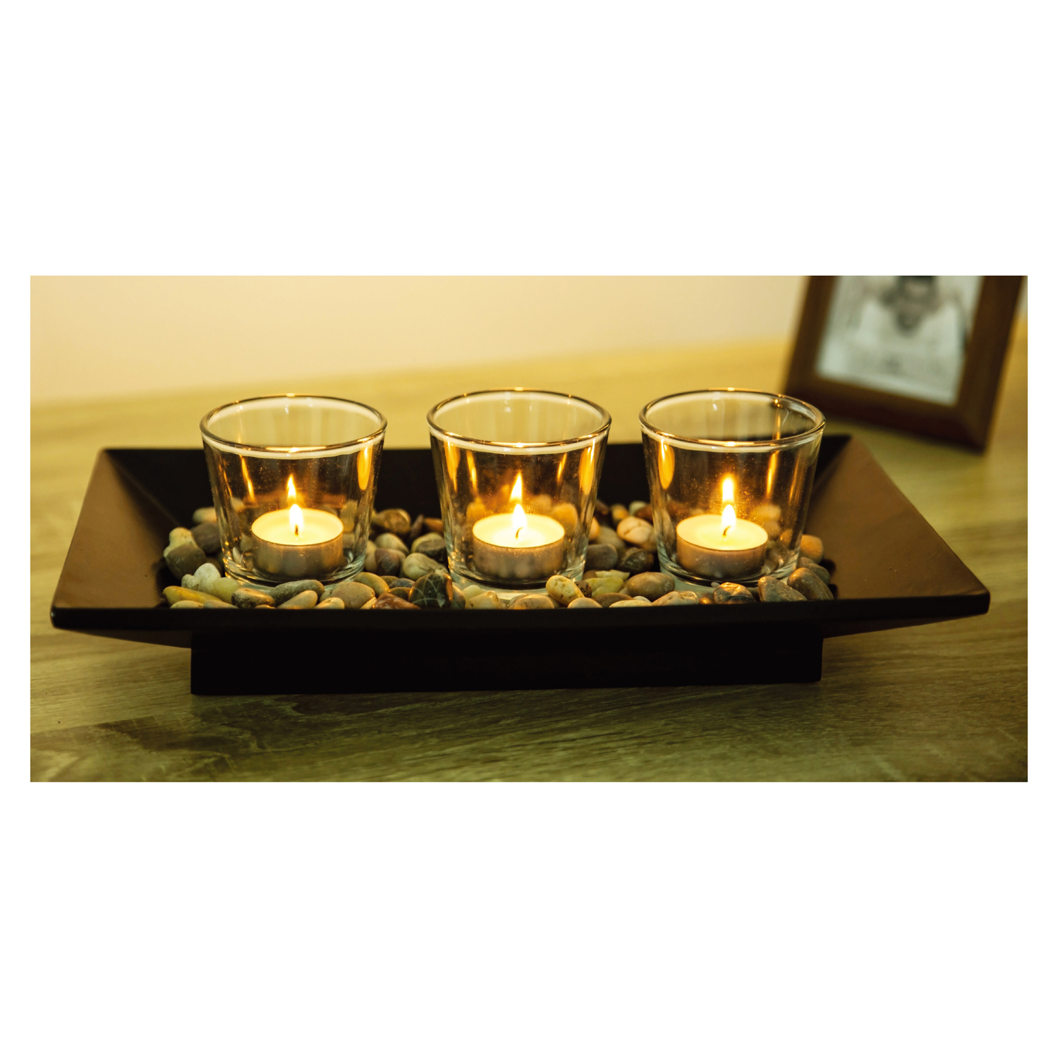 Home Decor Candle Holders And Accessories: Tranquil 3 Tealight Holders