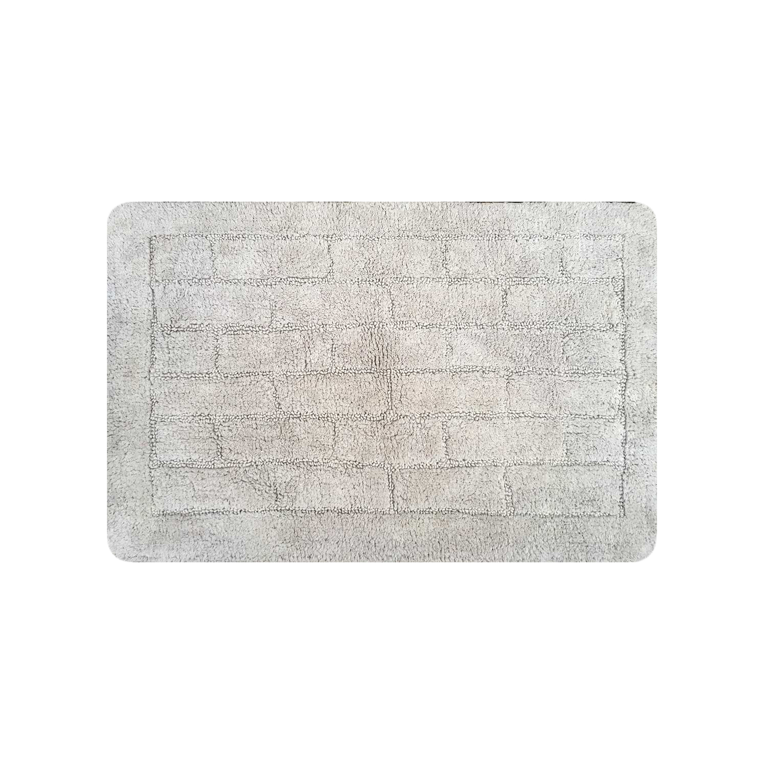 Cotton Brick Dove Grey Bath Mat 50cm x 80cm