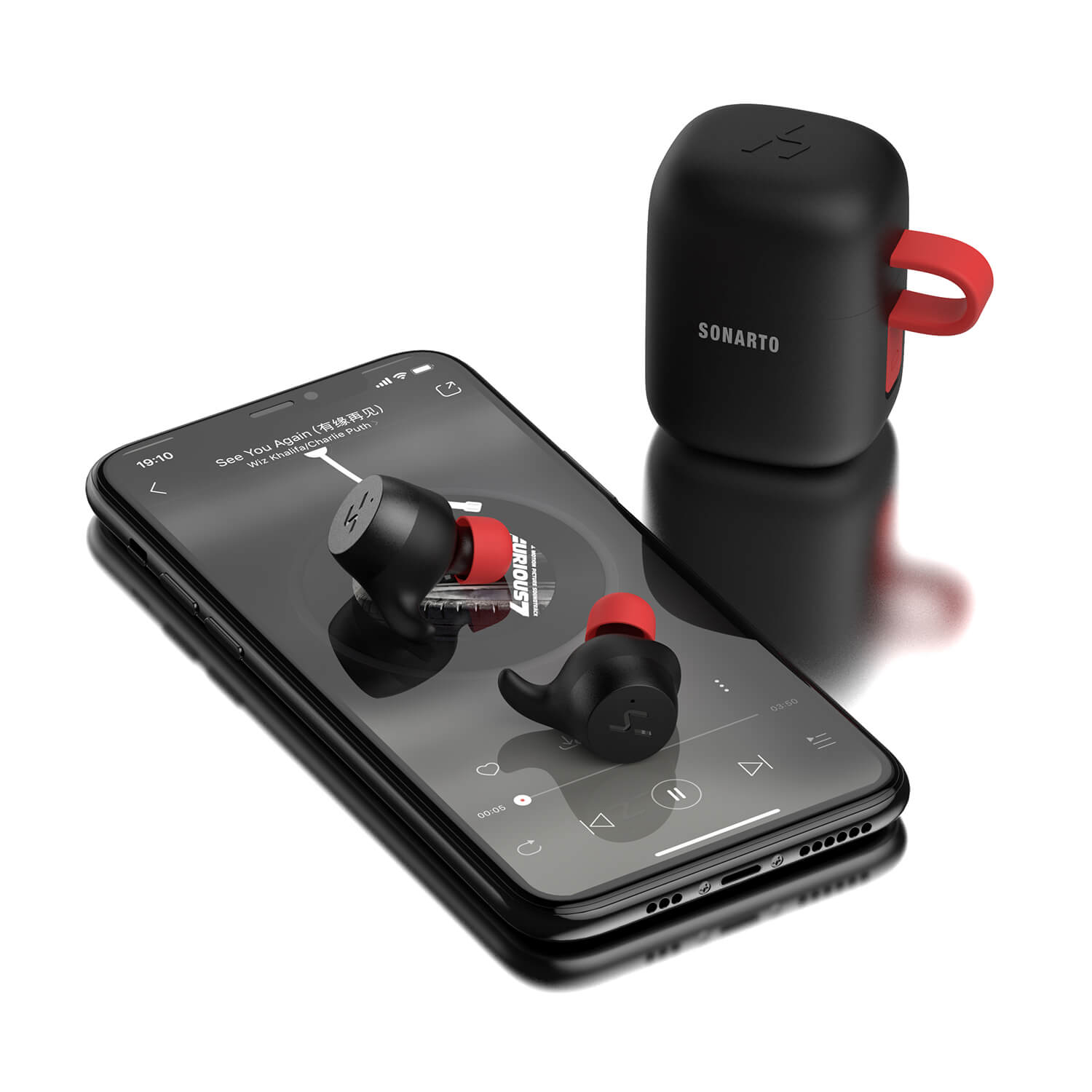Sonarto True Wireless Earbuds - Black