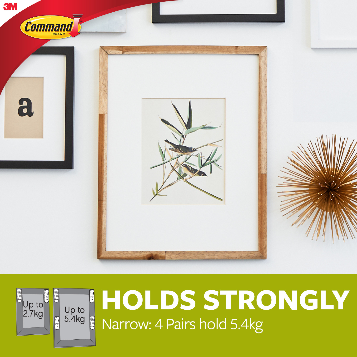 Command 4Pk Narrow Picture Hanging Strips