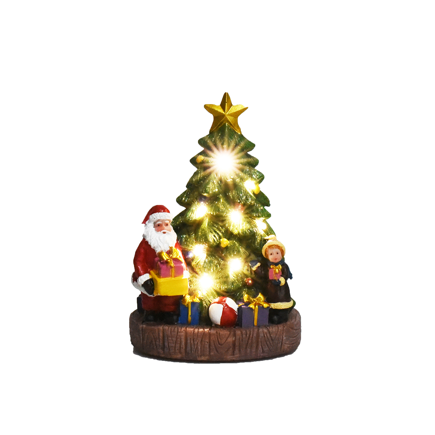 Lightup Christmas Tree with Santa