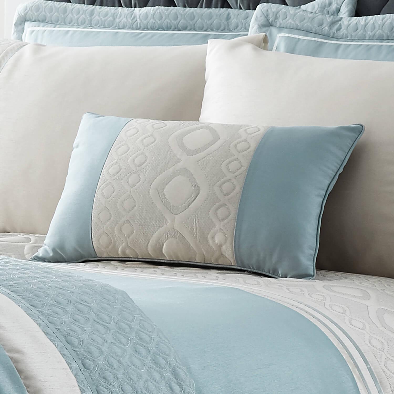 Luxury Geo Duck Egg Cushion 30cm X 50cm