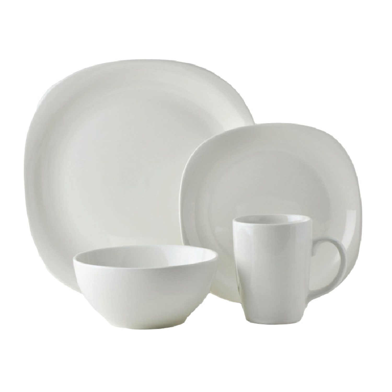 Quadro White Square Dinner Set 16Pc. Click to zoom  sc 1 st  Homestore and More & Quadro White Square Dinner Set 16Pc - Home Store + More