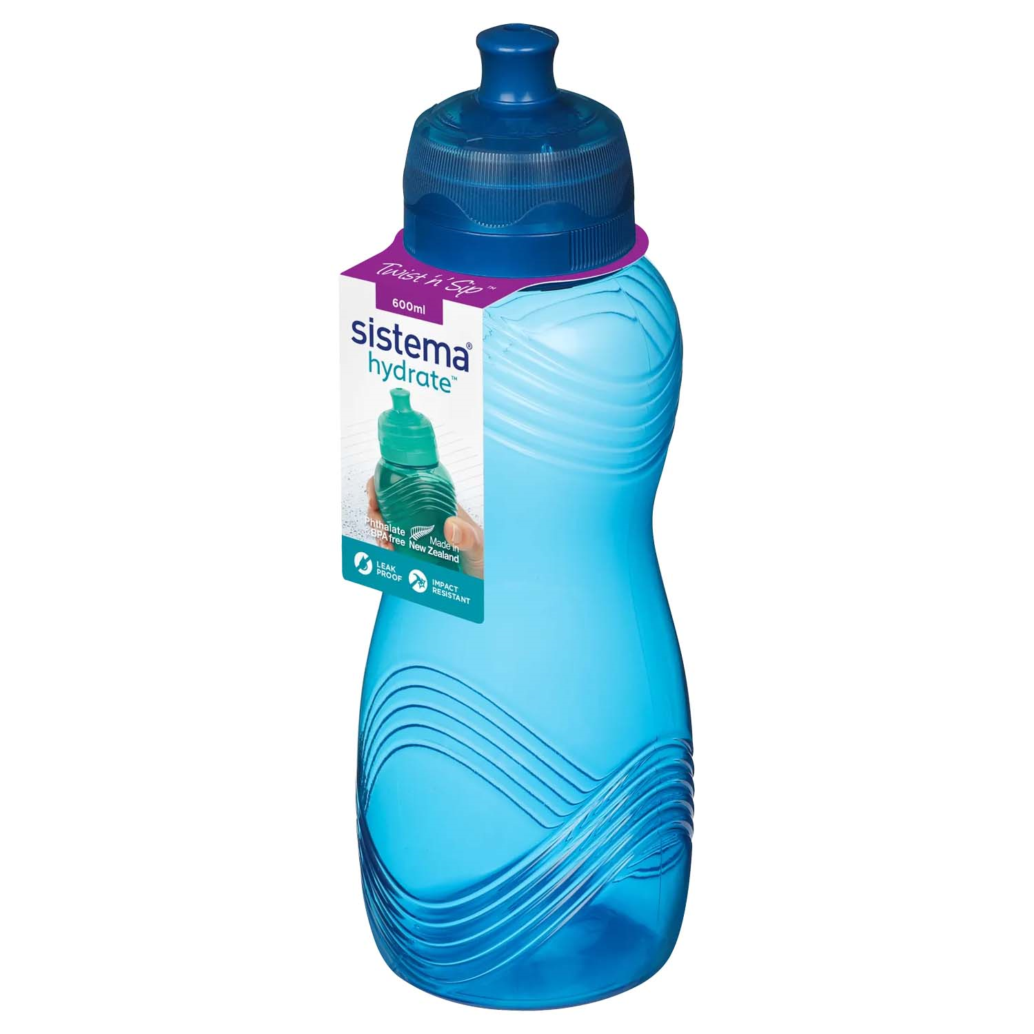 Sistema Wave Bottle 600ml Home Store More