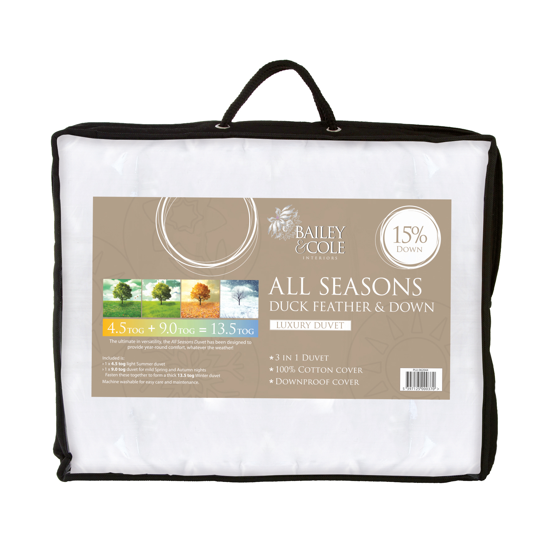 BAILEY & COLE DUCK SINGLE All Seasons Duvet