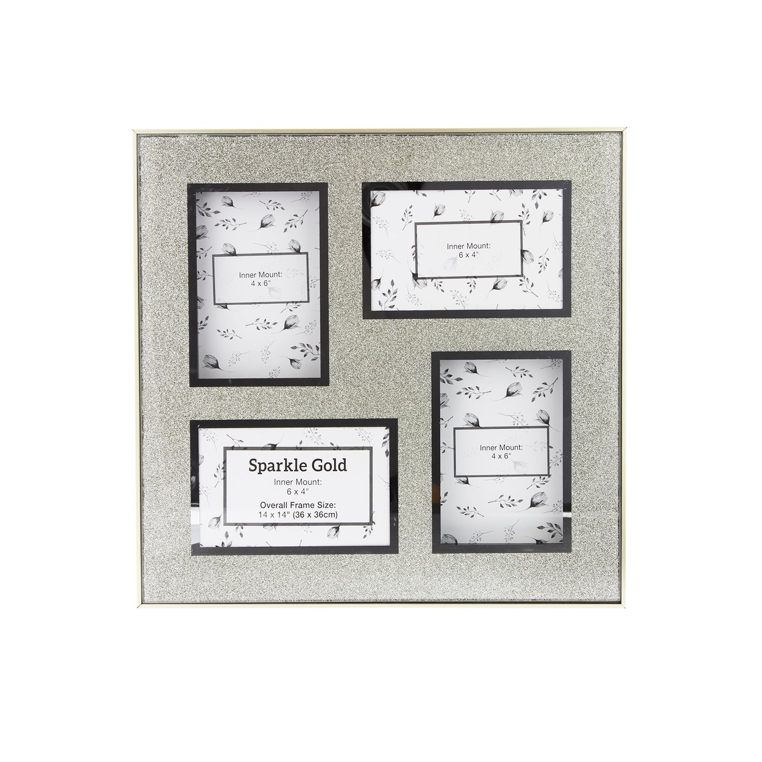 Multi Sparkle Gold Photo Frame 36x36 - Home Store + More