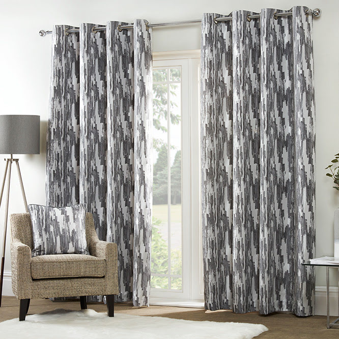 Etch Curtain - Charcoal